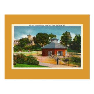 Parque zoológico, mansión, Baltimore Maryland Tarjetas Postales