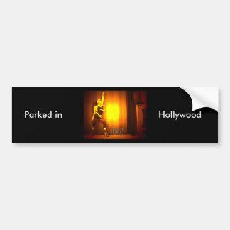 Parqueado en Hollywood Bumpersticker Pegatina Para Auto