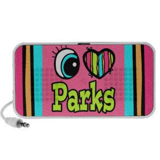 Parques brillantes del amor del corazón I del ojo iPod Altavoz