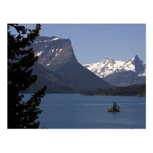 Parques del glaciar de las montañas postales