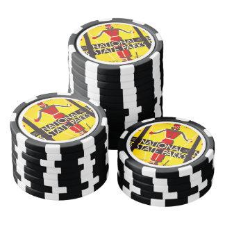 Parques del nacional y de estado, esquiando - juego de fichas de póquer