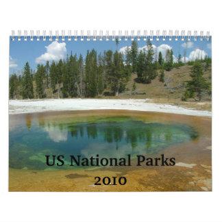 Parques nacionales de los E E U U Calendario