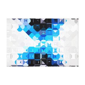Parquet Blue X2 Canvas Print