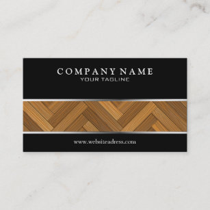 parquet floor business card - Flooring Business Cards