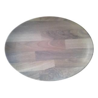 Parquet Floor Porcelain Serving Platter