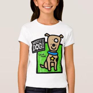 Parr de Todd - perro marrón del vintage Poleras