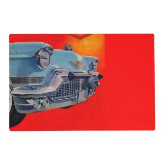 parrilla azul de Cadillac de los años 50 Salvamanteles