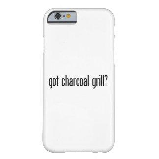 parrilla conseguida del carbón de leña funda para iPhone 6 barely there