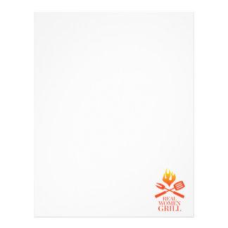 """Parrilla de las mujeres reales folleto 8.5"""" x 11"""""""