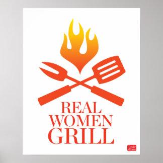 Parrilla de las mujeres reales póster