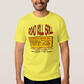 Parrilla de los animales atropellados camisas