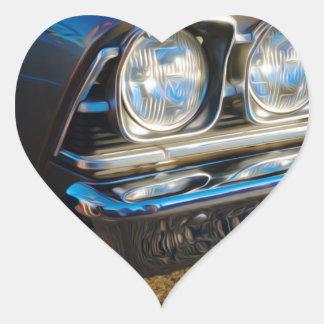 Parrilla de Plymouth Pegatina En Forma De Corazón