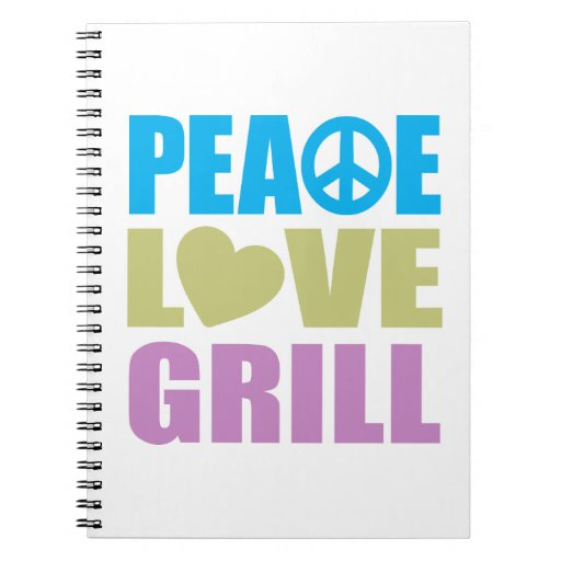 Parrilla del amor de la paz libretas