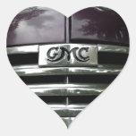 Parrilla del camión de GMC del vintage Pegatina En Forma De Corazón