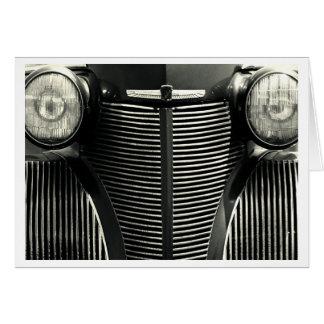 Parrilla del coche del vintage felicitaciones