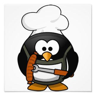 Parrilla del pingüino arte fotográfico
