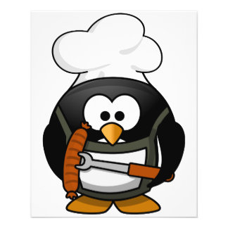 Parrilla del pingüino flyer personalizado