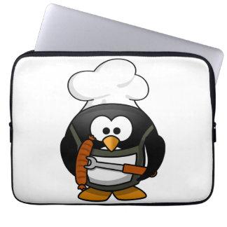 Parrilla del pingüino funda computadora