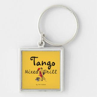 Parrilla mezclada del tango llaveros personalizados