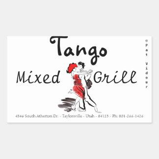 Parrilla mezclada del tango etiqueta