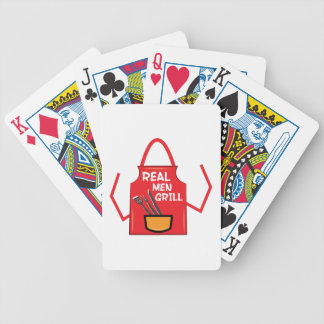 Parrilla real de los hombres baraja de cartas