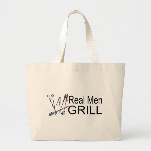 Parrilla real de los hombres bolsa tela grande