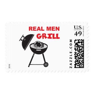 Parrilla real de los hombres timbre postal
