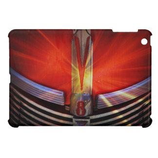 Parrilla roja brillante del frente del coche del m iPad mini carcasas