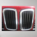 Parrilla roja de BMW 635 CSi (riñones gemelos) Impresiones