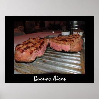 Parrillada - Grilled Steak in Buenos Aires Poster