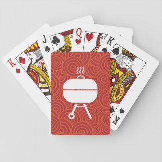 Parrillas cubiertas mínimas cartas de póquer