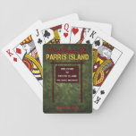 """Parris Island &quot;We Make Marines&quot; Playing Cards<br><div class=""""desc"""">Be the standout during poker night with these cool looking playing cards,  featuring the sign that everyone sees when entering Parris Island!</div>"""
