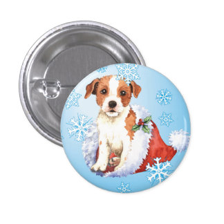 Párroco feliz Russell Terrier de Howliday Pin Redondo De 1 Pulgada
