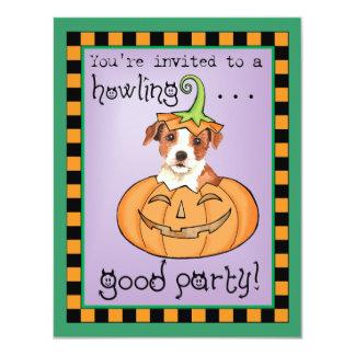 """Párroco Russell Terrier de Halloween Invitación 4.25"""" X 5.5"""""""