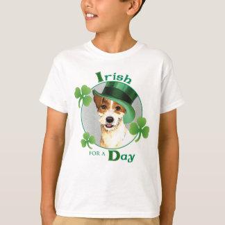 Párroco Russell Terrier del día de St Patrick Playera
