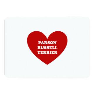 """Párroco Russell Terrier Invitación 5"""" X 7"""""""