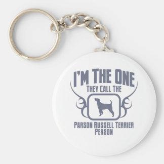 Párroco Russell Terrier Llavero Personalizado