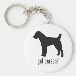 Párroco Russell Terrier Llaveros