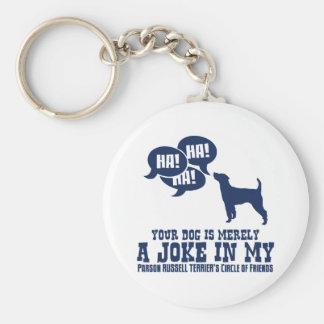Párroco Russell Terrier Llaveros Personalizados