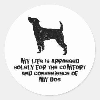 Párroco Russell Terrier Etiqueta Redonda