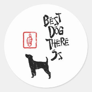 Párroco Russell Terrier Pegatina Redonda