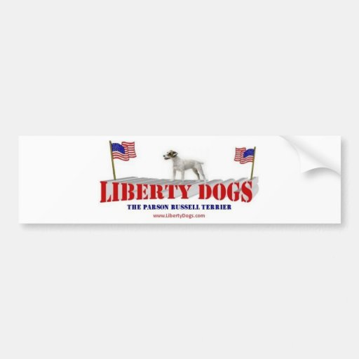 Párroco Russell Terrier Pegatina De Parachoque