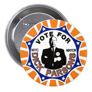 Párrocos de Richard para el alcalde 2013 de NYC Pin Redondo De 3 Pulgadas