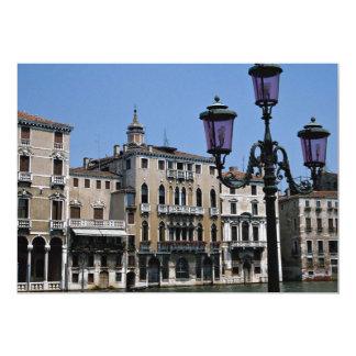 Parroquia de ciudad medieval pintoresca, Venecia, Invitación 12,7 X 17,8 Cm
