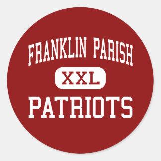 Parroquia de Franklin - patriotas - alta - Etiqueta Redonda
