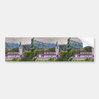 Parroquia del Santo-Theodule, Gruyeres, Suiza Pegatina Para Auto
