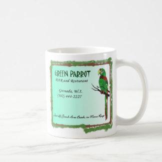 Parrot2 verde tazas de café