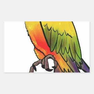 Parrot #2 rectangular sticker