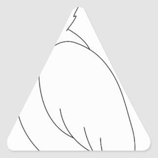 parrot #3 triangle sticker