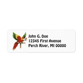 Parrot  Address Labels Pet Exotic Bird Pet Polly